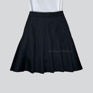 American Apparel Black Pleated Tennis Skirt Size L